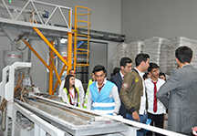 Students of the Nakhchivan State University Faculty of Economics have taken part in a practical training at the Cahan Holding Plastic Ship Zone.